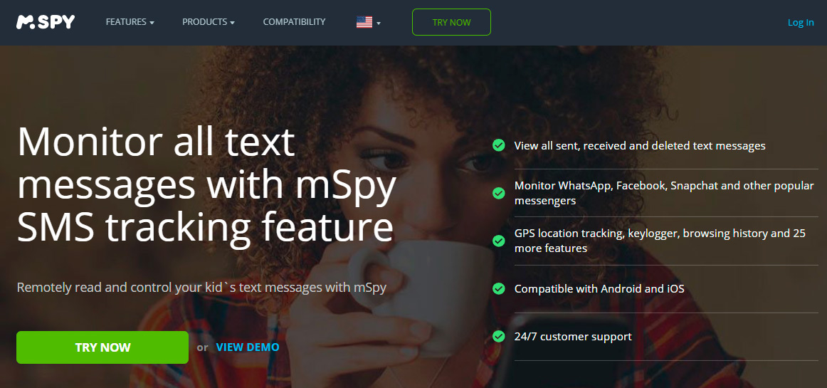 Spy android by sms